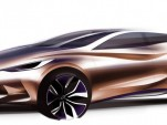 Preview sketch of Infiniti's new Q30 concept