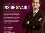 Print ad for GM's Inside the Vault TV show
