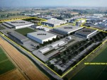 Proposal for Lamborghini's expanded plant in Sant'Agata Bolognese, Italy