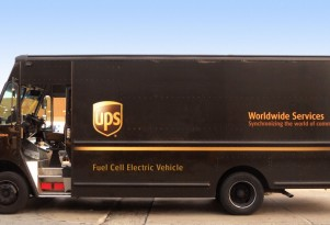 UPS electric van with fuel-cell range extender to be tested in California