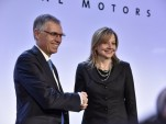 PSA's Carlos Tavares and General Motors' Mary T. Barra