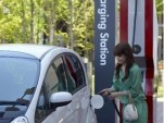 Public Charging Station for electric cars, courtesy Mitsubishi Motors