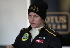 Raikkonen gives feedback to the Lotus F1 team - photo courtesy Lotus F1 Team