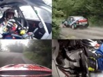 Rally car test filmed in quadvision
