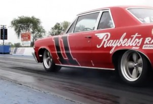 Raybestos 1964 Pontiac GTO-R at the drag strip.