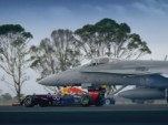 Red Bull F1 car and F/A-18 Hornet screencap.
