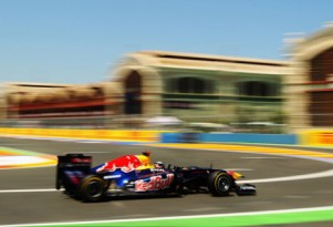 Red Bull Racing at the 2011 Formula 1 European GP
