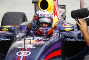 Red Bull Racing's Daniel Ricciardo at the 2014 Formula One Hungarian Grand Prix