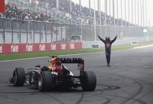 Red Bull Racing's Sebastian Vettel named 2013 Formula One world champion after winning Indian GP