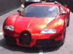 Red chrome Veyron wrap by Dartz