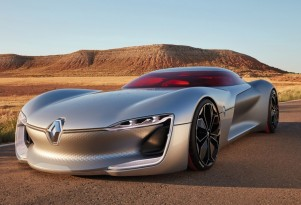 Renault Trezor concept in Paris; electric drive, new design language