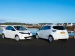 Renault Zoe electric cars on the Outer Hebrides