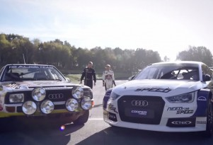 Röhrl and Ekstrom test the Audi S1 EKS RX and Audi Sport Quattro