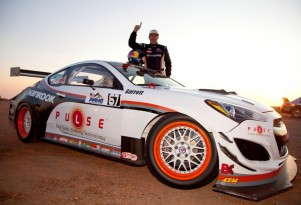 Rhys Millen and his Hyundai Genesis Coupe at the 2012 Pikes Peak Hill Climb