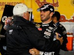 Rick Hendrick and Jimmie Johnson celebrate No. 200 - NASCAR photo