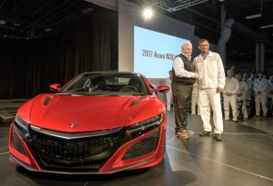 Rick Hendrick takes delivery of the 2017 Acura NSX with VIN 001