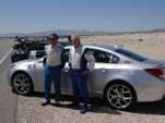 Rietow and Townsend at the finish of the Nevada Open Road Challenge