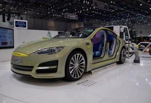 Rinspeed XchangE: Tesla-Based Autonomous Car Live Photos