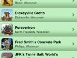 Roadside America app screen shots