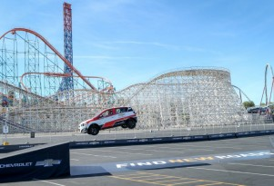Rob Dyrdek reverse-jumps Chevy Sonic RS to new record