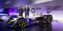 Roborace Robocar self-driving race car, 2017 Mobile World Congress