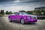 Not to be outdone by McLaren, Rolls-Royce built a fuchsia Dawn