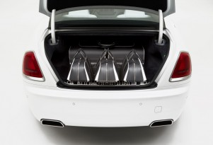 Rolls-Royce's new Wraith-inspired luggage set