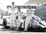 Romain Dumas, Neel Jani and Marc Lieb and the 2016 Porsche 919 Hybrid LMP1 race car