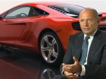 Ron Dennis with the McLaren MP4-12C