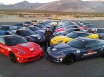 Ron Fellows with Corvettes at the Ron Fellows Performance Driving School