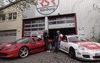 'Ring Queen Sabine Schmitz Takes On A Challenge From A Ferrari 458 Driver: Video