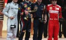 Rosberg, Webber, Adrian Newey and Alonso on the Monaco podium - courtesy Red Bull Racing