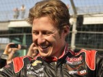 Ryan Briscoe celebrates his first Indianapolis 500 pole - Anne Proffit photo