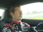 Ryan Briscoe, lapping the Indianapolis Motor Speedway in the Corvette ZR1.