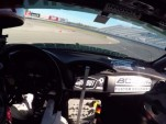 Ryan Tuerck drifts around New Hampshire Motor Speedway