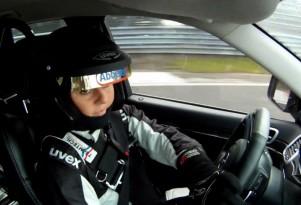 Sabine Schmitz drives the Grand Cherokee SRT8