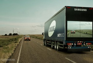 Samsung Creates A See-Through 18-Wheeler To Curb Highway Collisions