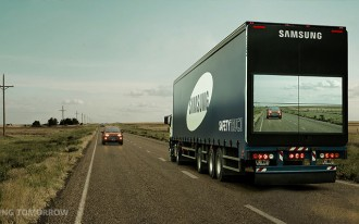 Samsung Creates A See-Through 18-Wheeler To Curb Highway Collisions