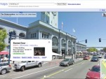 San Francisco's Ferry Building, with business listing in Street View