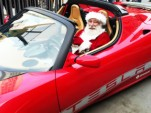 Santa In A Tesla Roadster
