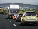 SARTRE self-driving road train testing on Spanish highway