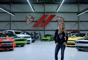 Scene from Dodge television spot highlighting role in 'The Fate of the Furious'