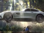 Scene from Mercedes' ad for Super Bowl XLIX