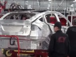 Scene from Tesla Model X production video