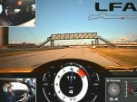 Scott Pruett drives the Lexus LFA at Infineon