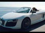 Screencap from an ad for the Audi R8 spyder