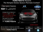 Screencap from Ford Fiesta 'Vampire Diaries' contest