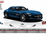 Screencap from the Mercedes-Benz SLS AMG Gullwing microsite