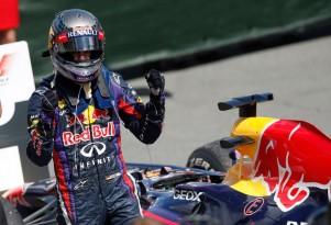 Sebastian Vettel after winning the 2013 Formula One Canadian Grand Prix