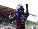 Sebastian Vettel after winning the 2013 Formula One Italian Grand Prix